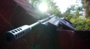 "Crosman 1322 NCSar Red Dot Cree Flash Light 14"" Barrel Muzzle"
