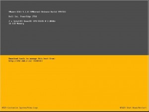 ESXi Server Fully Booted