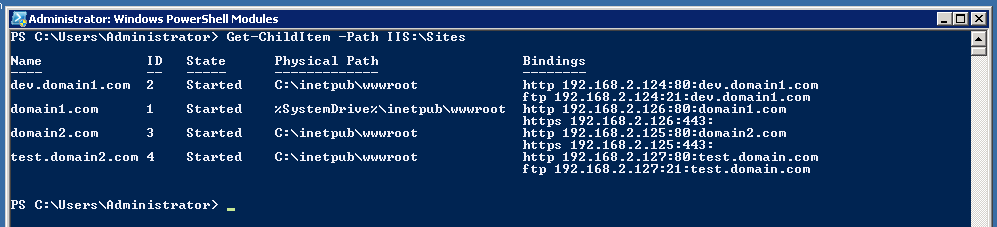 Using PowerShell to filter and sort IIS Binding info    | RobWillis info